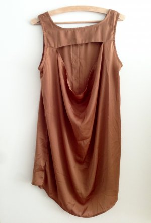 Monki Hemdkleid - Ärmellos - Bronze - Rückenausschnitt