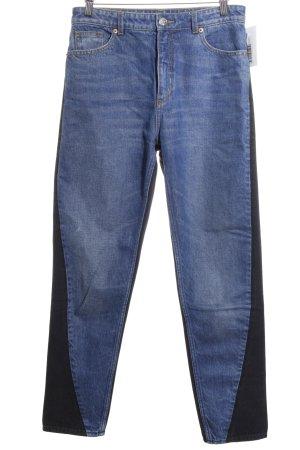 Monki High Waist Jeans dunkelblau-schwarz Street-Fashion-Look
