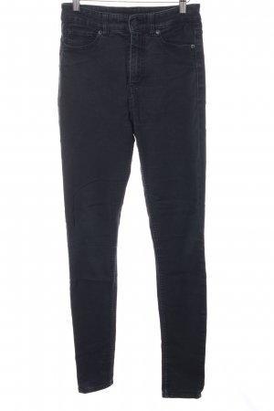 Monki High Waist Jeans schwarz Jeans-Optik