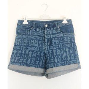 MONKI high waist Strech Jeansshorts 38 40 Ethno Style Denim Shorts kurze Hose