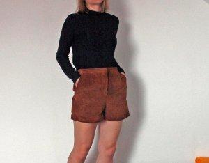 """Monki Highwaist Shorts """"Laura"""" aus echtem Wildleder"""