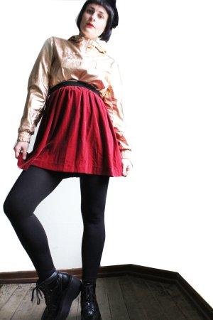 Monki Highwaist Velvet Skirt