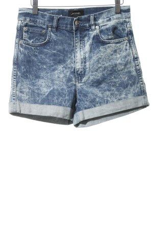 Monki Hot Pants stahlblau-weiß meliert Casual-Look