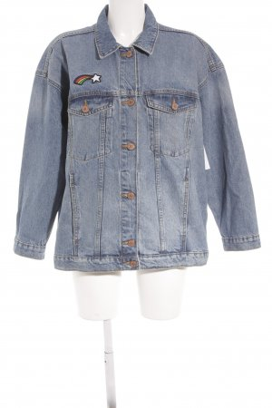 Monki Jeansjacke Mustermix Casual-Look