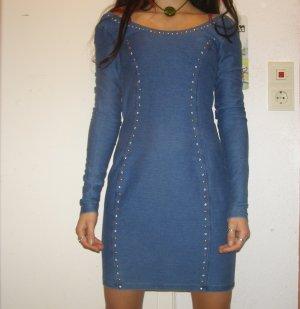 Monki Jeanskleid mit Steinchen