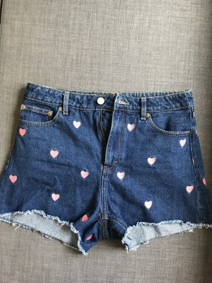 Monki Short en jean multicolore