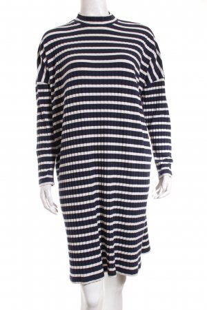 Monki Jersey Dress dark blue-natural white striped pattern casual look