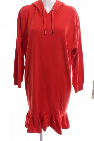 Monki Hooded Dress red casual look