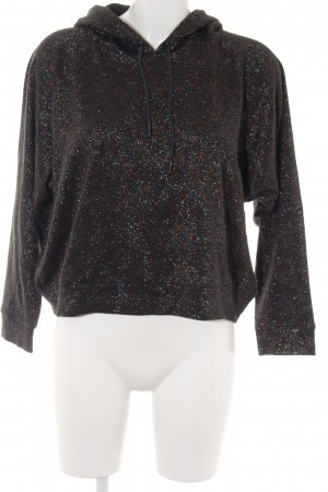 Monki Hooded Sweater black glittery