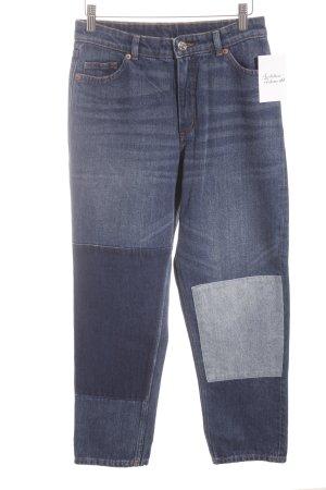 Monki Wortelbroek donkerblauw-lichtblauw casual uitstraling