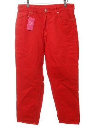 Monki Jeans carotte rouge style décontracté
