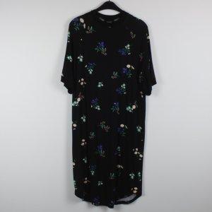 MONKI Kleid Gr. XS oversized schwarz geblümt