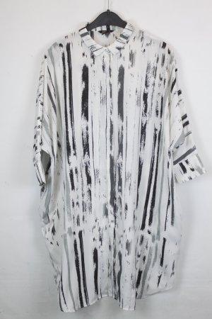 Monki Robe chemise blanc-noir polyester