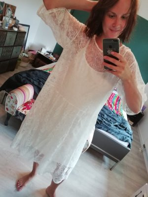Monki Kleid Oversize loose fit Spitze Lace