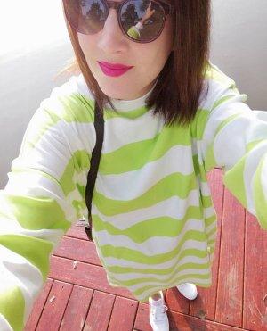 Monki Kleid Shirtkleid Sweat Kleid Streifen Taschen Midi
