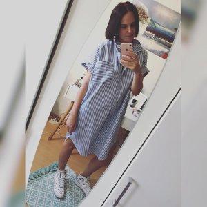 Monki Kleid Streifen Blusenkleid Hemdkleid S Oversize