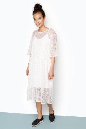 MONKI Kleid - Terry Lace Dress weiß Größe S