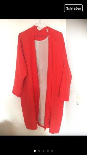MONKI knallroter Sommer Mantel / Kimono