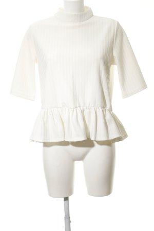 Monki Kurzarm-Bluse weiß schlichter Stil