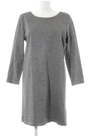 Monki Langarmkleid grau meliert schlichter Stil