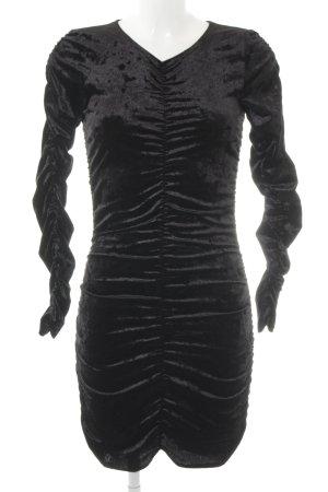 Monki Langarmkleid schwarz Elegant