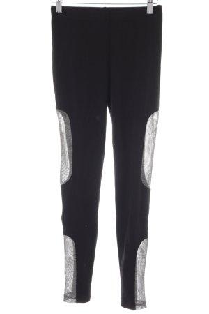 Monki Leggings schwarz-grau Webmuster sportlicher Stil