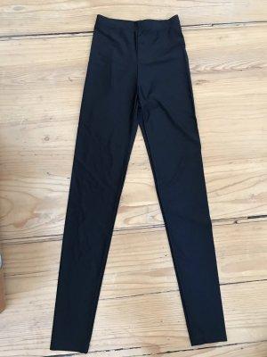 Monki leggings shine schwarz XS