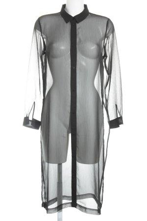 Monki Long-Bluse schwarz minimalistischer Stil