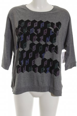 Monki Longsleeve grau Casual-Look