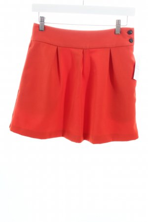 Monki Minirock dunkelorange College-Look
