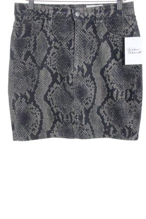 Monki Minirock grau-schwarz Farbverlauf Reptil-Optik