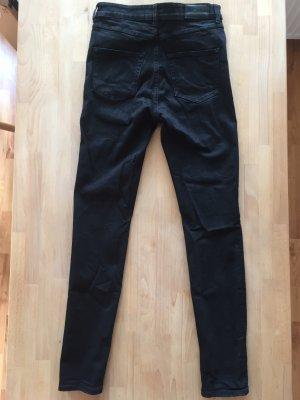 """Monki """"Oki - Slim High Waist"""" – Hochwertige Skinny Jeans mit hoher Taille, Schwarz, W28/ L30"""