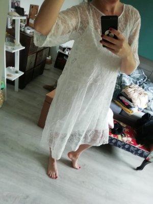 Monki Oversize oversized Kleid Midi Spatze Lace Hippie