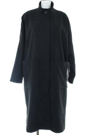 Monki Oversized Mantel schwarz Brit-Look