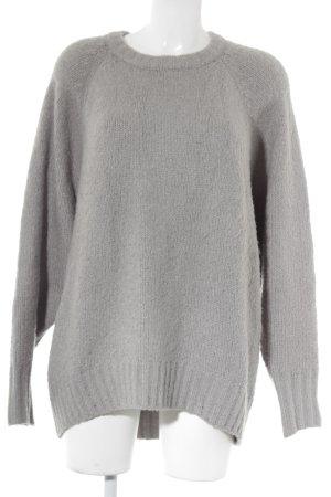 Monki Oversized Pullover hellgrau Casual-Look