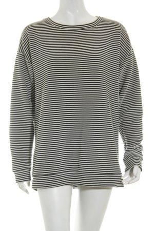 Monki Oversized Pullover schwarz-weiß Streifenmuster Casual-Look