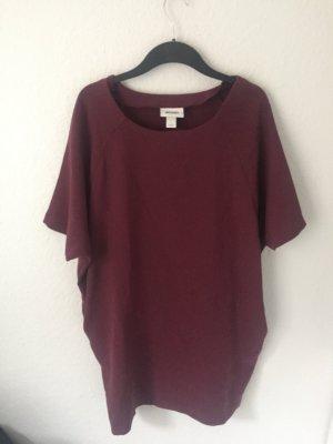 Monki oversized Sweatshirt Kleid Weinrot
