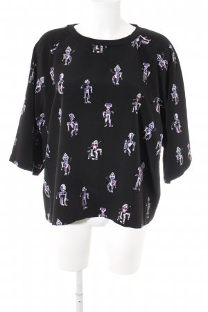 Monki Print-Shirt Motivdruck Casual-Look