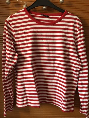 Monki Pullover in rot-weiß