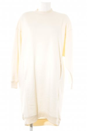 Monki Sweater Dress pale yellow casual look