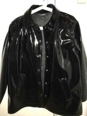 Monki Regenjacke schwarz glänzend