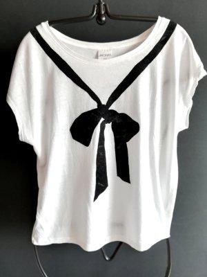 Monki Camicia fantasia bianco-nero