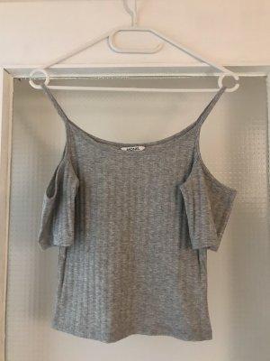Monki Camisa tipo Carmen gris claro-gris