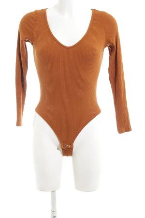 Monki Shirtbody licht Oranje casual uitstraling