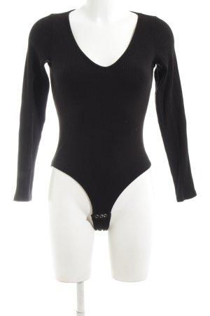 Monki Shirtbody zwart casual uitstraling