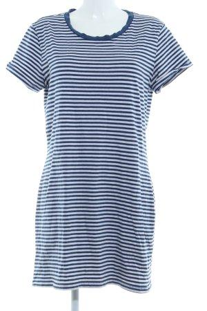 Monki Shirtkleid weiß-stahlblau Streifenmuster Casual-Look