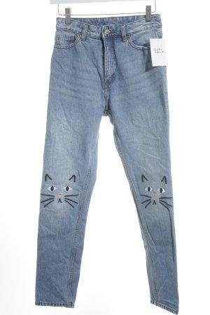 Monki Skinny jeans blauw casual uitstraling