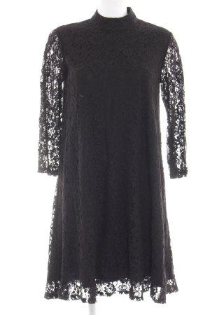Monki Spitzenkleid schwarz Elegant