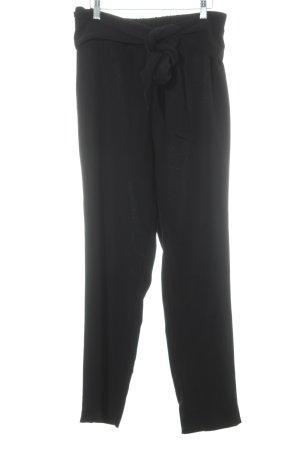 Monki Stoffhose schwarz schlichter Stil