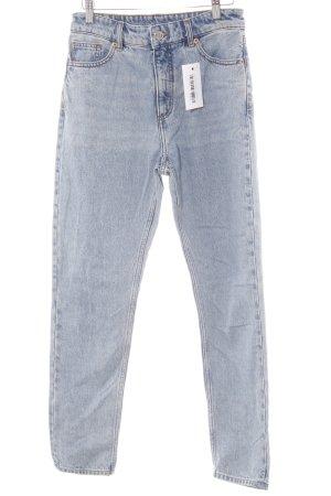 Monki Straight-Leg Jeans blau Casual-Look
